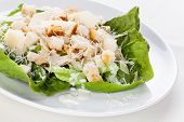 Caesar Salad With Parmesan And Chicken Breast