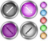 Spirit level. Internet buttons.