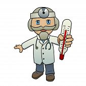 stock photo of chibi  - This is an illustration of a doctor in chibi style - JPG