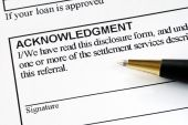 Sign the acknowledgment in the disclosure form
