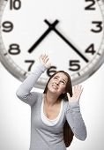 Clock And Woman