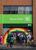Rainbow Around Td Bank Atms