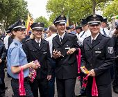 German Policewoman's During Gay Pride Parade