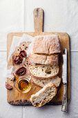 Crusty Bread Ciabatta With Sun Dried Tomatoes