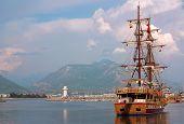 Ship In The Port Of Alanya, Turkey
