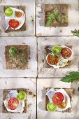 Slice Of Whole Wheat Bread And Cherry Tomatoes
