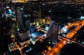Bangkok, Thailand - May 24, 2014: Night View Over Bangkok City, Thailand