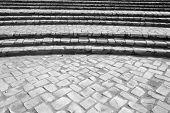 Curved Stone Brick Steps