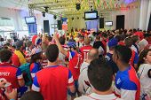 American World Cup Fans Gather Before A Match.