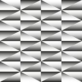 Geometric Monochrome Seamless Pattern Of Triangles