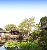 Garden of Fisherman in Suzhou, China. Summer day