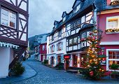Evening in Bernkastel-Kues, Germany. Toned image