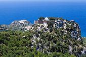 Beautiful panoramic landscape of Aegean sea coastline