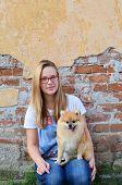 Next Door Girl And Her Pet