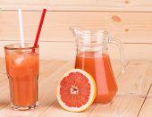 Grapefruit and juice.
