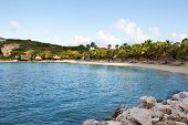Beach at Blue Bay, Curacao island
