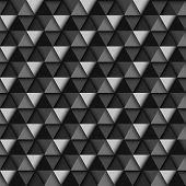 Black and White Geometric Pattern, vector eps10 illustration