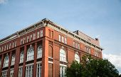 Classic Red Brick Under Blue Sky In Savannah