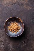 Food Coarse Aged Balsamic Salt On Dark Background