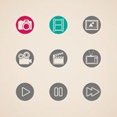 flat icons for web and mobile applications with creative industry items