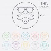 picture of mustache  - Mustache and Glasses sign icon - JPG