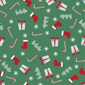 Winter Holidays Pattern Seamless Background