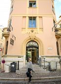MONTE CARLO, MONACO - OCTOBER 29, 2014: The exterior of the main post office in Monte Carlo, Monaco.