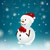 Funny Snowman With Mittens