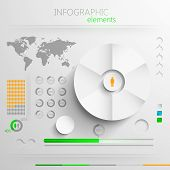 vector set of abstract paper infographic elements for print or web design