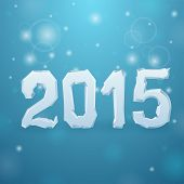 2015 Ice New Year Background Vector
