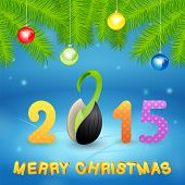 Christmas Background With Inscription And Seed