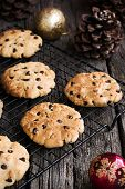 Chocolate Chip Cookies at Christmas Time