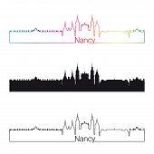 Nancy Skyline Linear Style With Rainbow