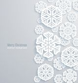 Christmas Background With Paper Snowflakes.