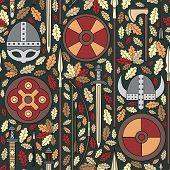 Seamless Viking Pattern 05