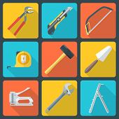 flat house remodel tools icons