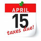 Tax Time Calendar Paper