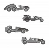 stock photo of muscle-car  - retro muscle car vector graphic art illustration - JPG