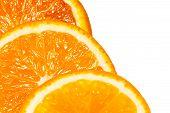 Cutting Orange. Three Slices