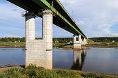 Bridge Over Sukhona In Totma