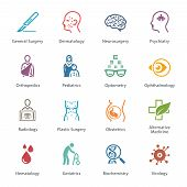 Colored Medical & Health Care Icons Set 2 - Specialties