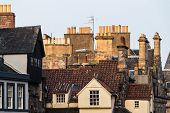Chimney Stacks And Roofs In Edinburgh's Old Town, Scotland