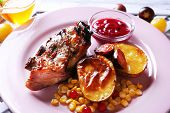 picture of deer meat  - Grilled Lamb steak - JPG