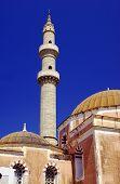 Turkish mosque with minaret