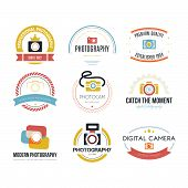 image of mass media  - Vector collection of photography logo templates - JPG