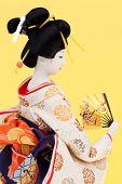 Traditional Japanese geisha doll