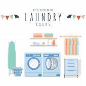 Laundry (White Background)