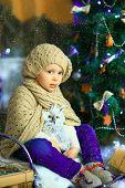 The Girl Near A Christmas Fir-tree 6