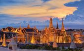 pic of palace  - Grand palace at twilight in Bangkok Thailand - JPG