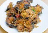 Spicy Stir Fried Catfish On Dish
